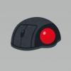 トラックボールマウスのイラスト