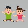 楽しく遊ぶ子供たち
