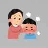 子どもと発熱を心配する母親