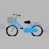パンクした自転車のイラスト