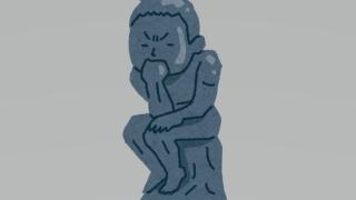 考える人の彫刻
